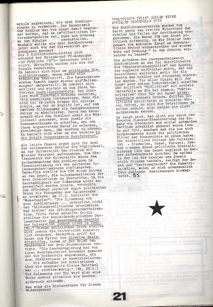 Schulkampf _ Zeitung des KOB, Nr. 7/73, Seite 21