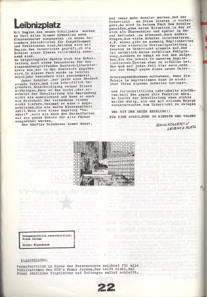 Schulkampf _ Zeitung des KOB, Nr. 7/73, Seite 22