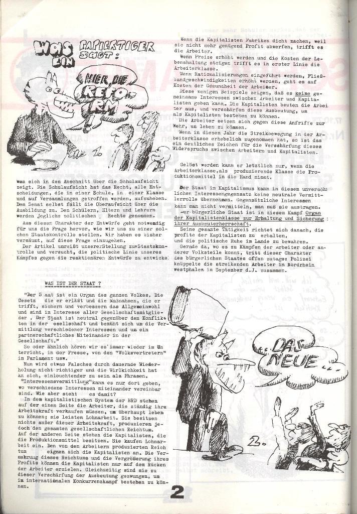 Schulkampf _ Zeitung des KOB, Nr. 8/73, Seite 2