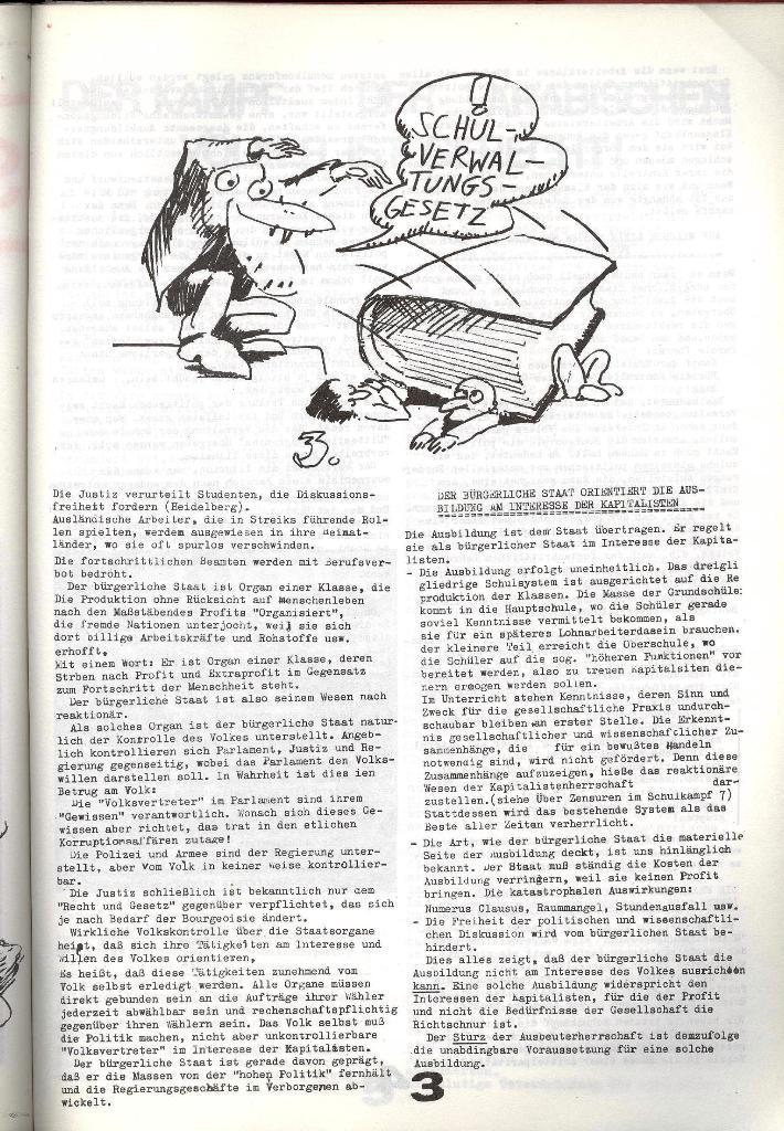 Schulkampf _ Zeitung des KOB, Nr. 8/73, Seite 3