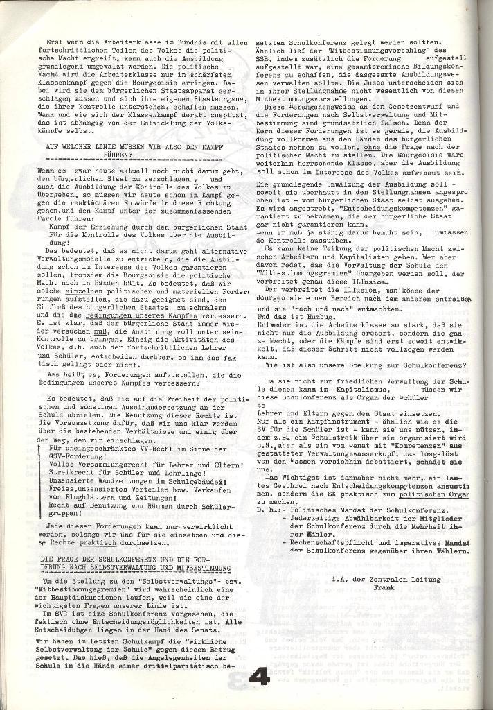 Schulkampf _ Zeitung des KOB, Nr. 8/73, Seite 4