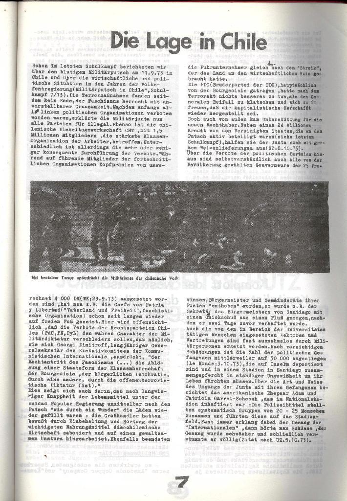Schulkampf _ Zeitung des KOB, Nr. 8/73, Seite 7