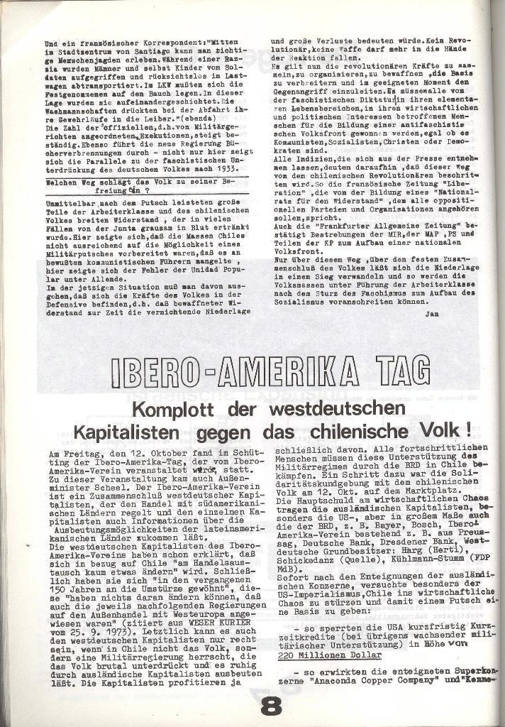 Schulkampf _ Zeitung des KOB, Nr. 8/73, Seite 8