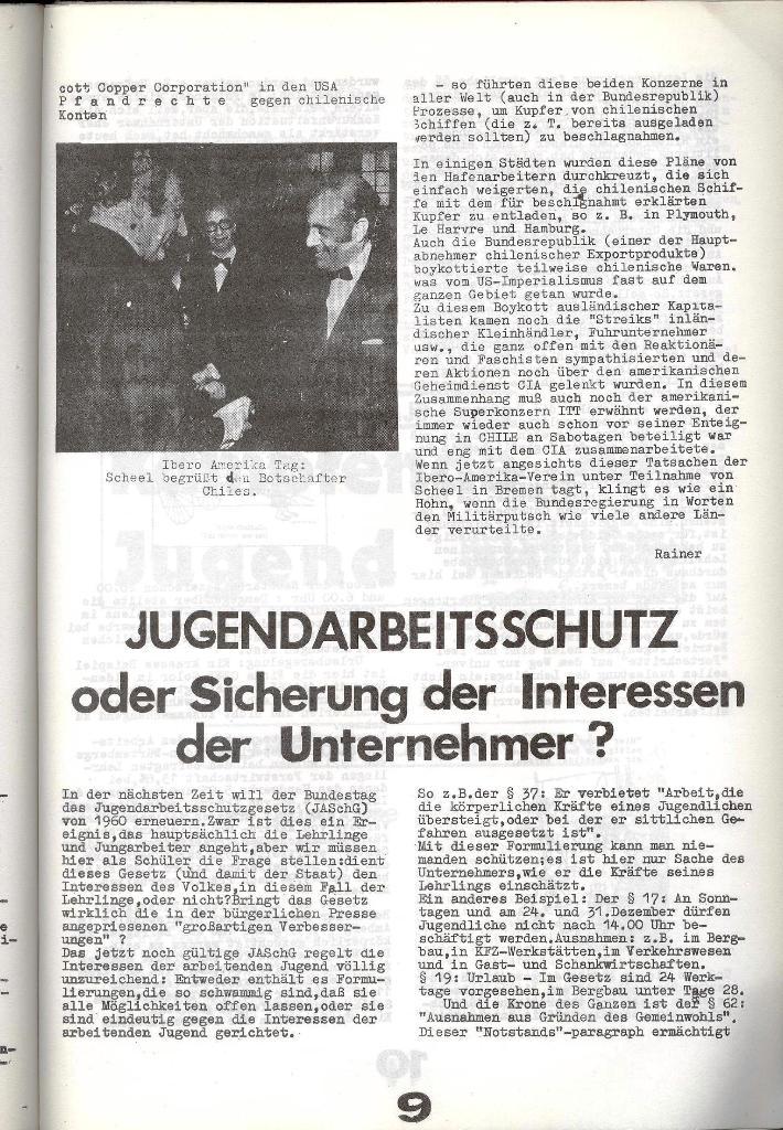 Schulkampf _ Zeitung des KOB, Nr. 8/73, Seite 9
