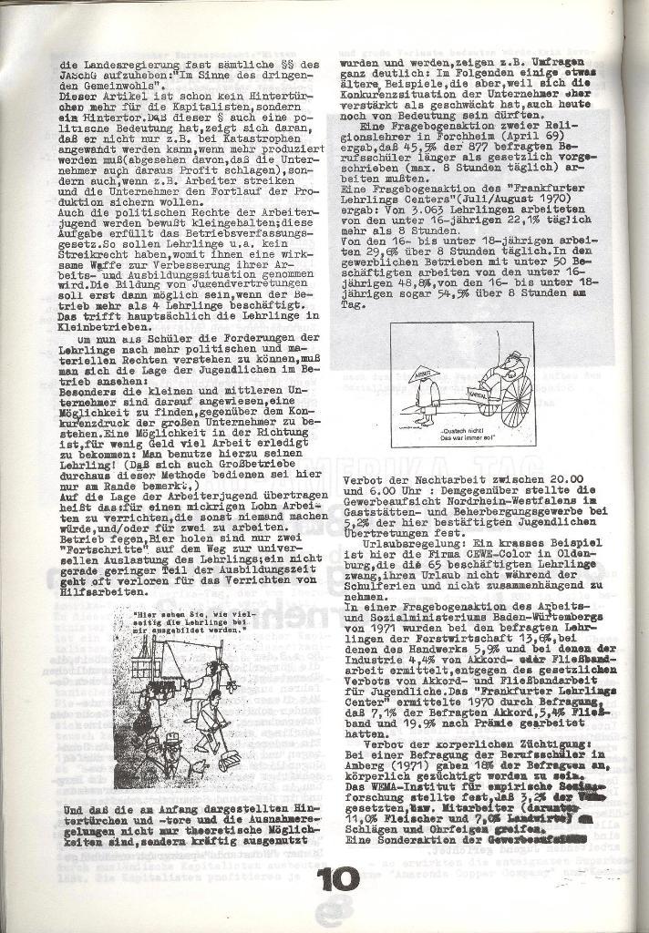 Schulkampf _ Zeitung des KOB, Nr. 8/73, Seite 10