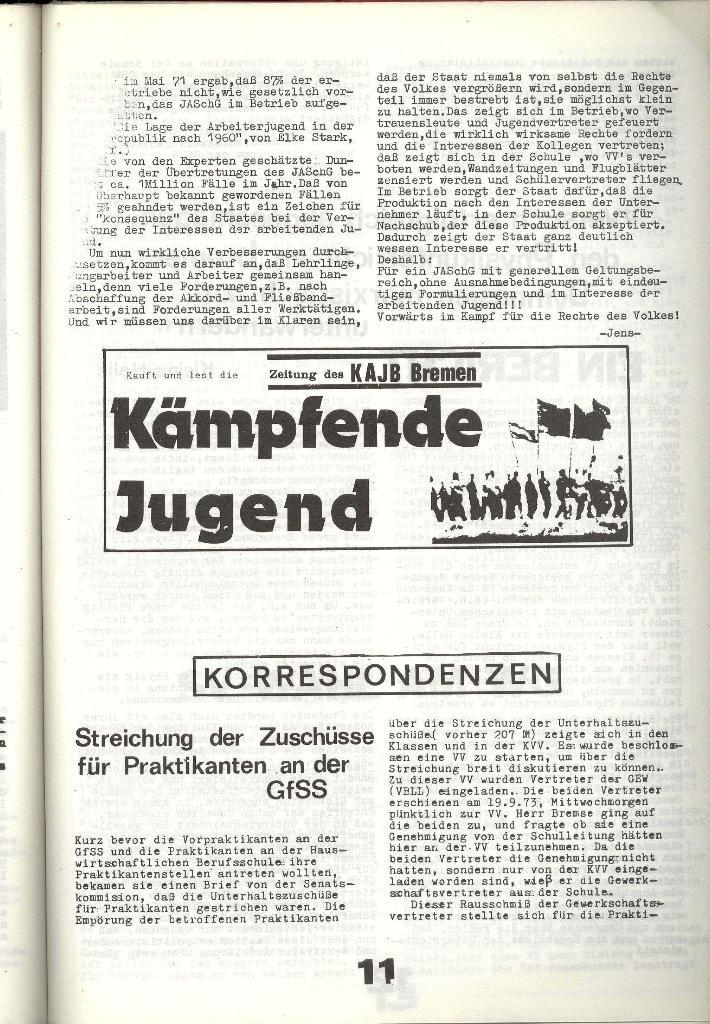 Schulkampf _ Zeitung des KOB, Nr. 8/73, Seite 11