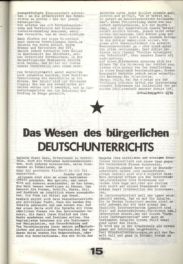 Schulkampf _ Zeitung des KOB, Nr. 8/73, Seite 15
