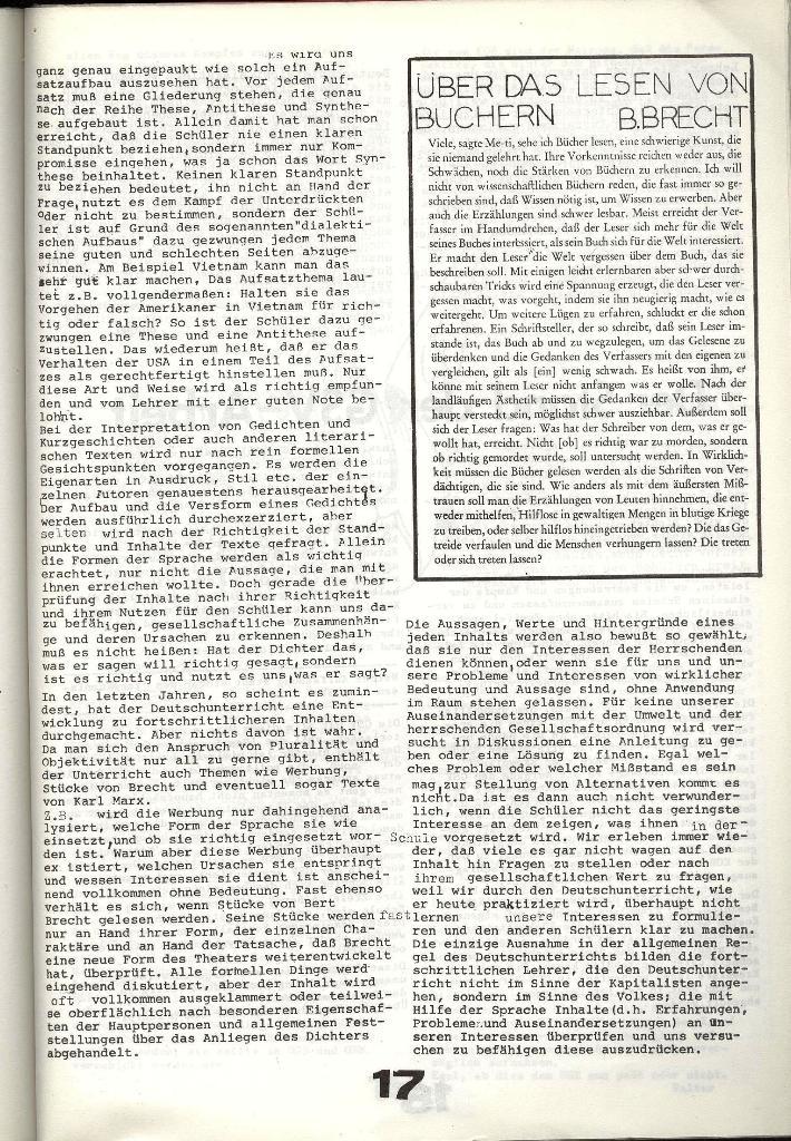 Schulkampf _ Zeitung des KOB, Nr. 8/73, Seite 17