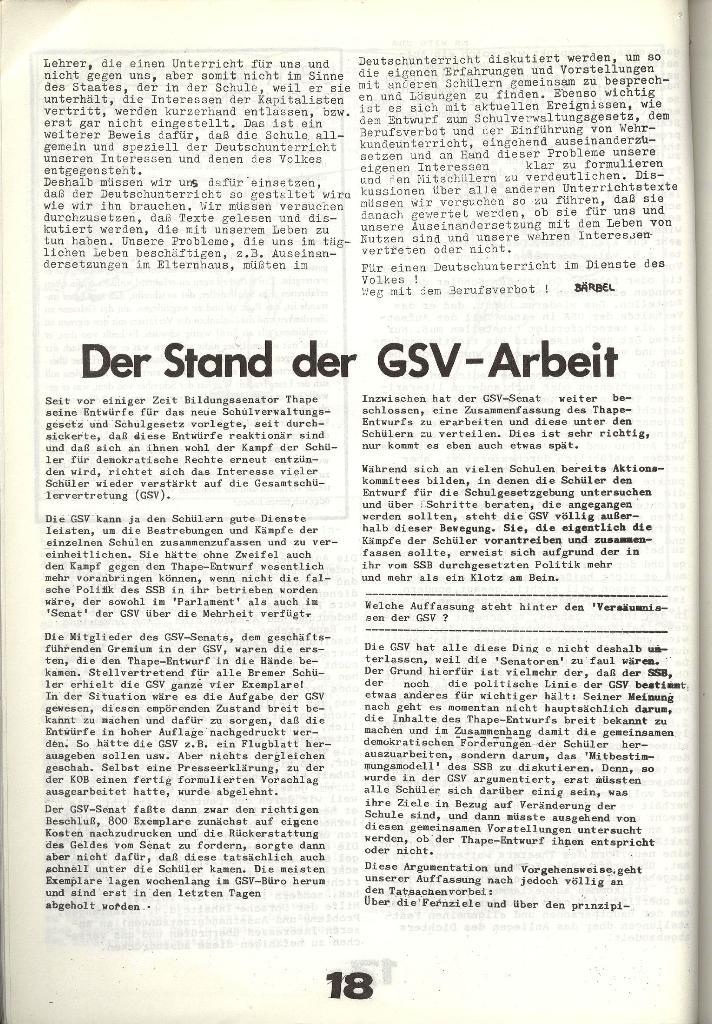 Schulkampf _ Zeitung des KOB, Nr. 8/73, Seite 18
