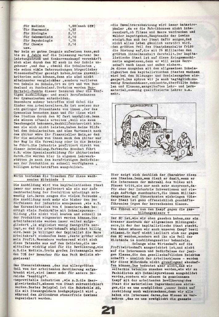 Schulkampf _ Zeitung des KOB, Nr. 8/73, Seite 21