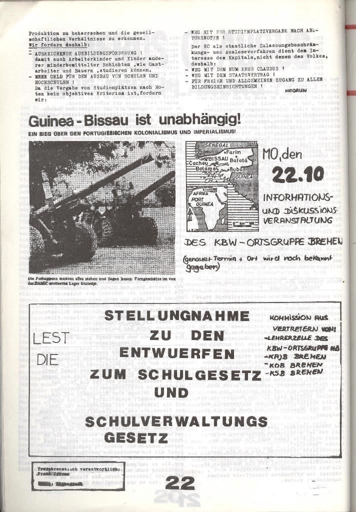 Schulkampf _ Zeitung des KOB, Nr. 8/73, Seite 22