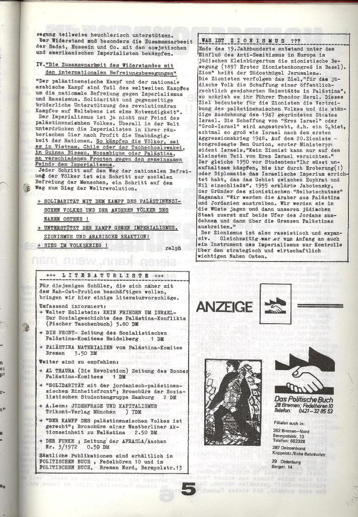 Schulkampf _ Zeitung des KOB, Nr. 9/73, Seite 5