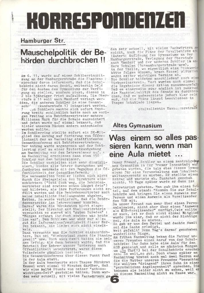 Schulkampf _ Zeitung des KOB, Nr. 9/73, Seite 6