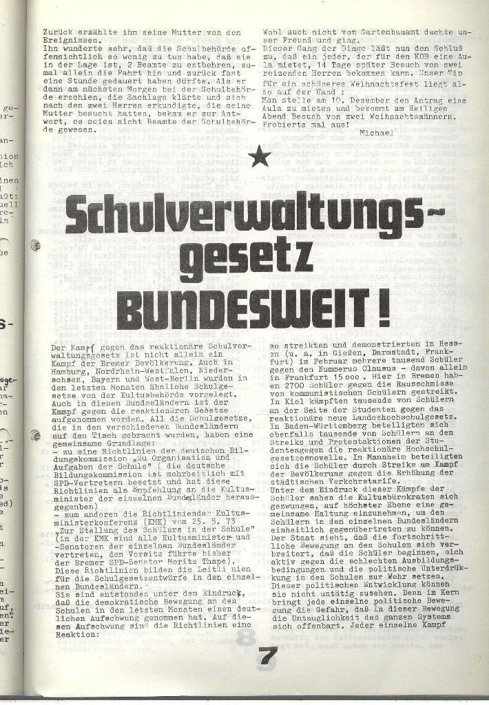 Schulkampf _ Zeitung des KOB, Nr. 9/73, Seite 7