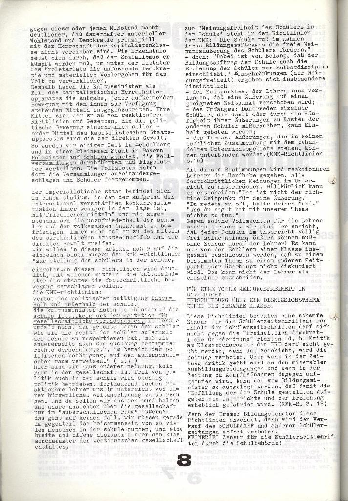Schulkampf _ Zeitung des KOB, Nr. 9/73, Seite 8