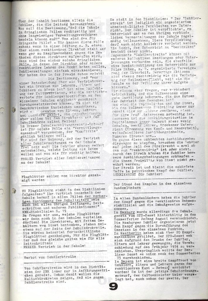 Schulkampf _ Zeitung des KOB, Nr. 9/73, Seite 9