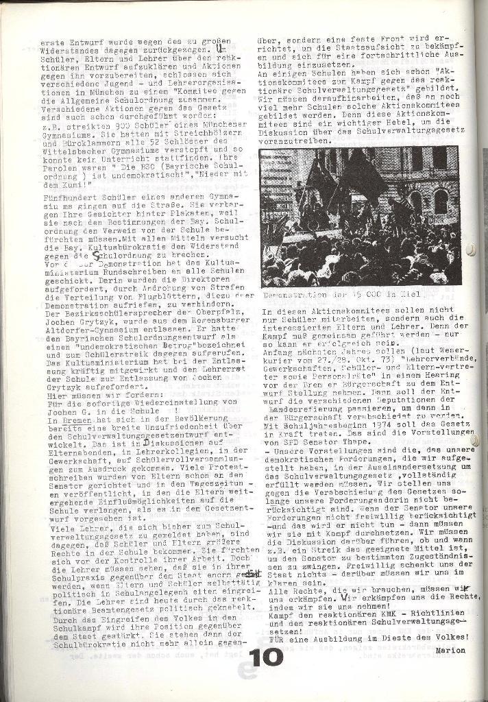 Schulkampf _ Zeitung des KOB, Nr. 9/73, Seite 10