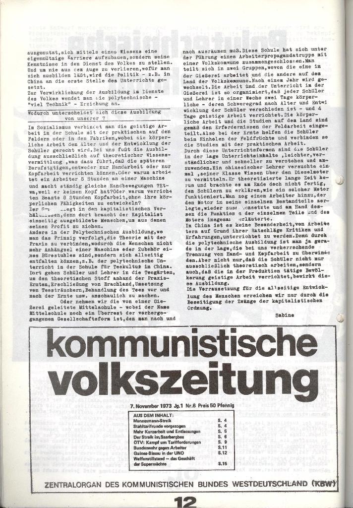 Schulkampf _ Zeitung des KOB, Nr. 9/73, Seite 12