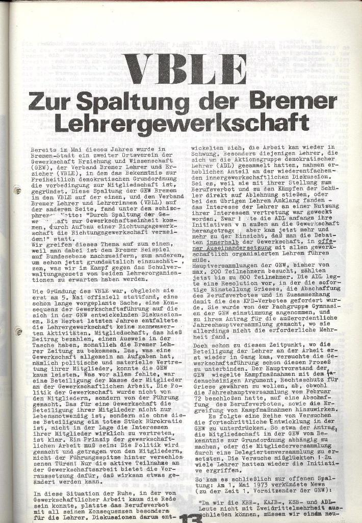 Schulkampf _ Zeitung des KOB, Nr. 9/73, Seite 13