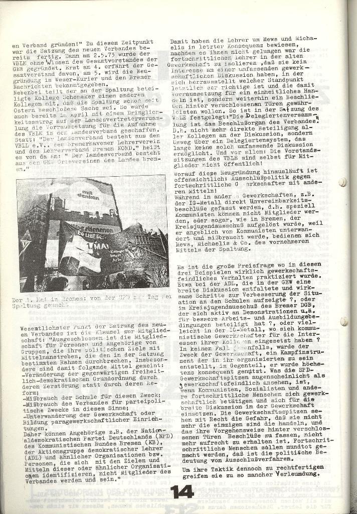 Schulkampf _ Zeitung des KOB, Nr. 9/73, Seite 14