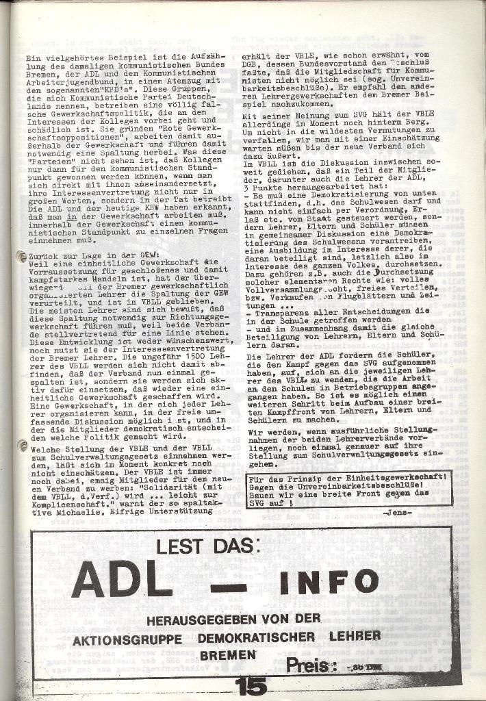 Schulkampf _ Zeitung des KOB, Nr. 9/73, Seite 15