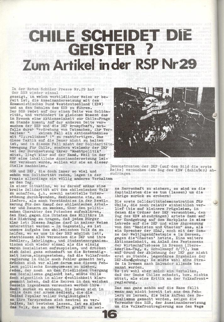 Schulkampf _ Zeitung des KOB, Nr. 9/73, Seite 16