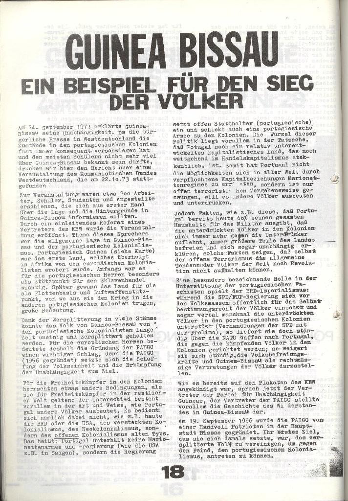 Schulkampf _ Zeitung des KOB, Nr. 9/73, Seite 18