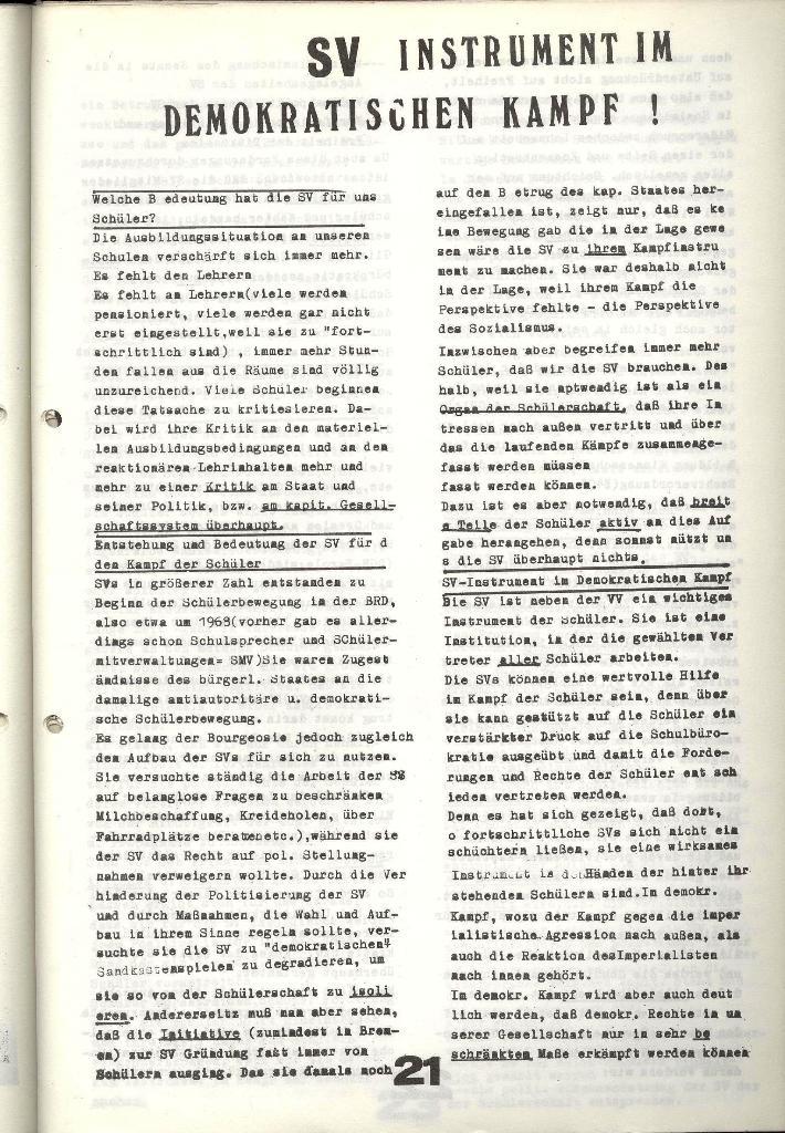 Schulkampf _ Zeitung des KOB, Nr. 9/73, Seite 21