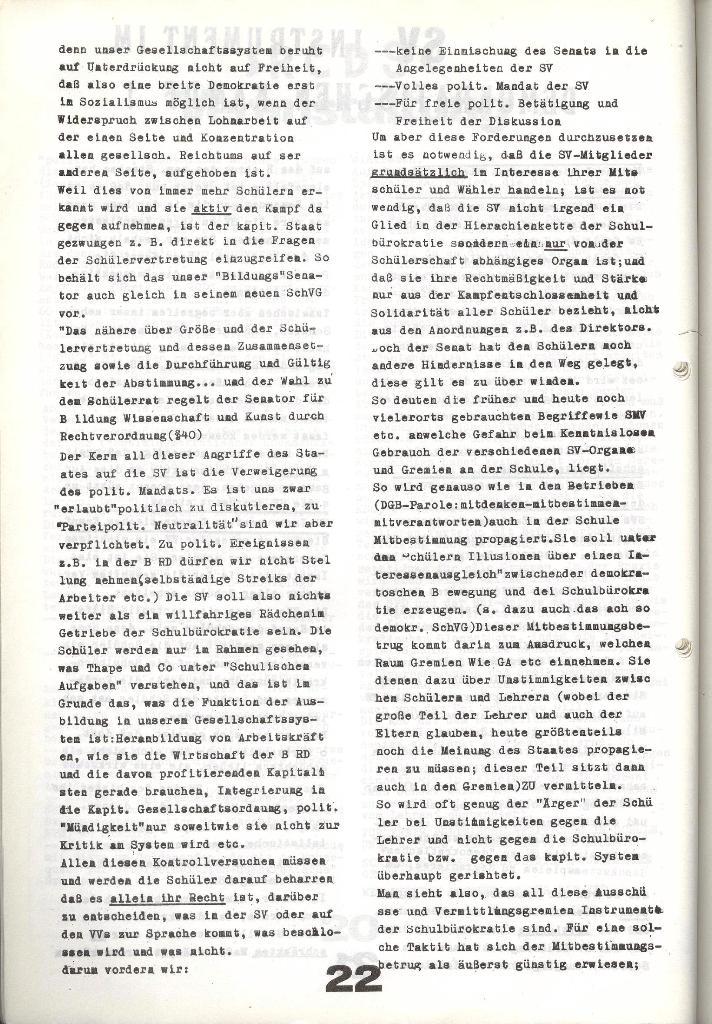 Schulkampf _ Zeitung des KOB, Nr. 9/73, Seite 22