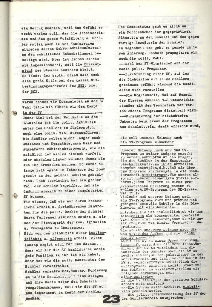 Schulkampf _ Zeitung des KOB, Nr. 9/73, Seite 23
