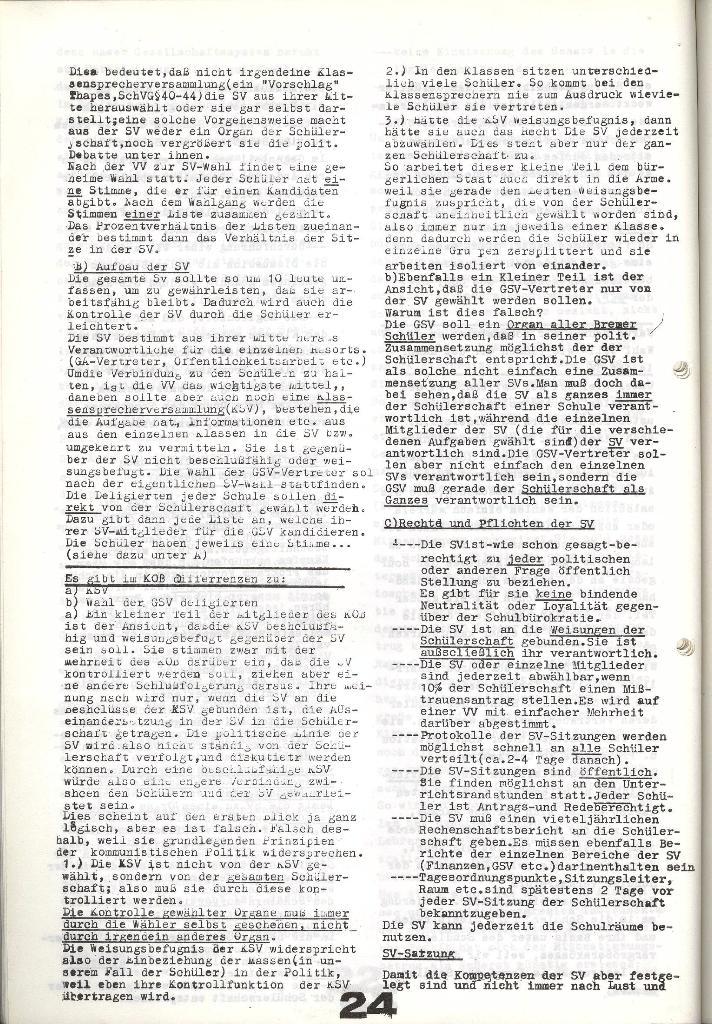 Schulkampf _ Zeitung des KOB, Nr. 9/73, Seite 24