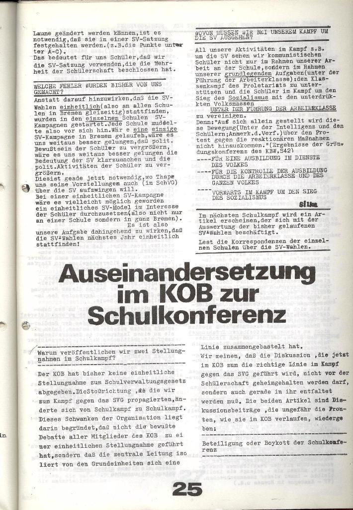 Schulkampf _ Zeitung des KOB, Nr. 9/73, Seite 25