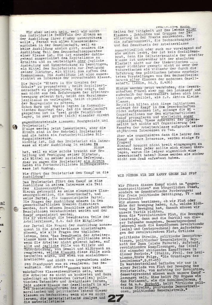 Schulkampf _ Zeitung des KOB, Nr. 9/73, Seite 27