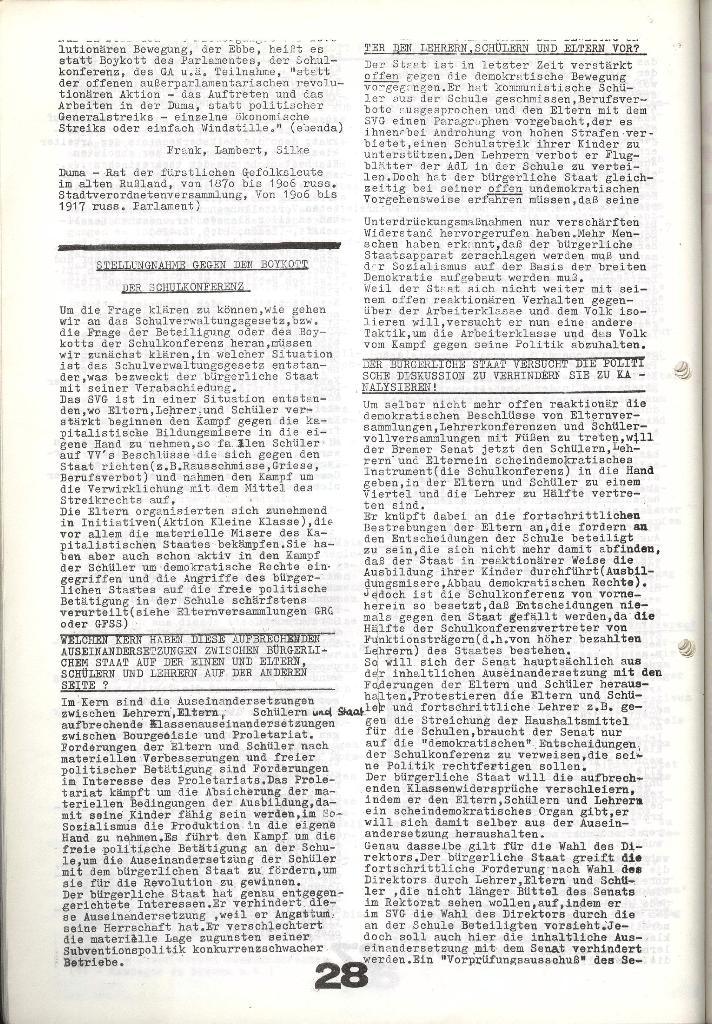 Schulkampf _ Zeitung des KOB, Nr. 9/73, Seite 28