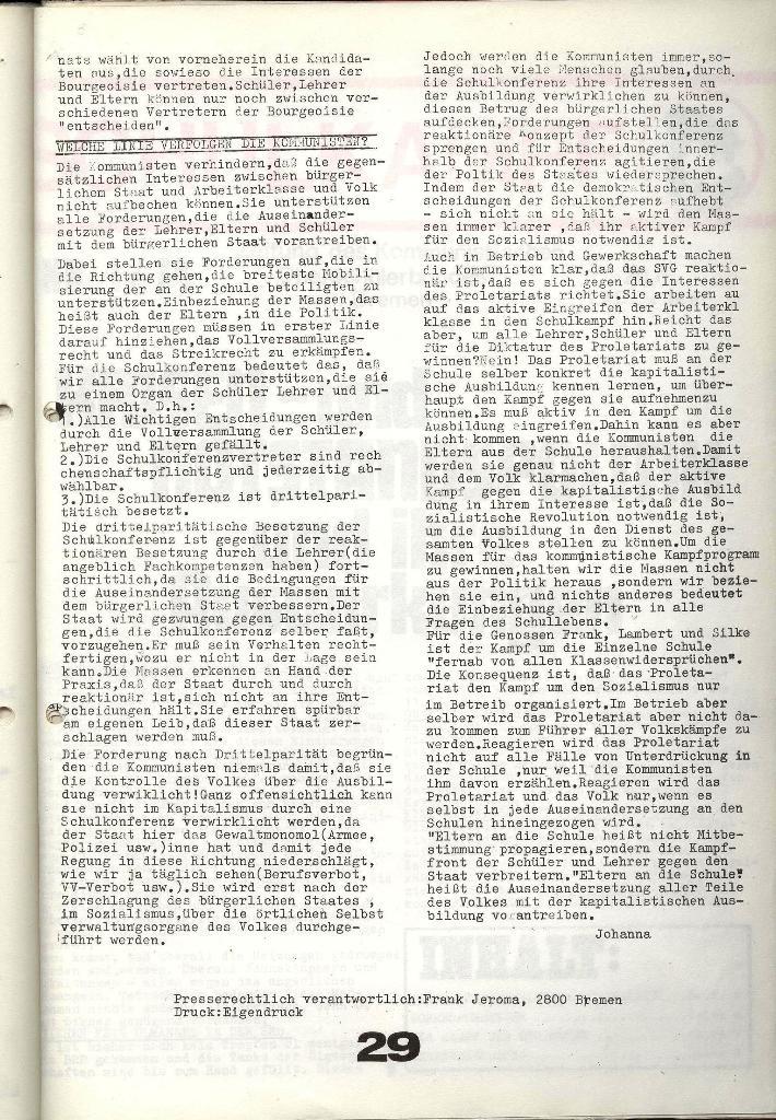 Schulkampf _ Zeitung des KOB, Nr. 9/73, Seite 29
