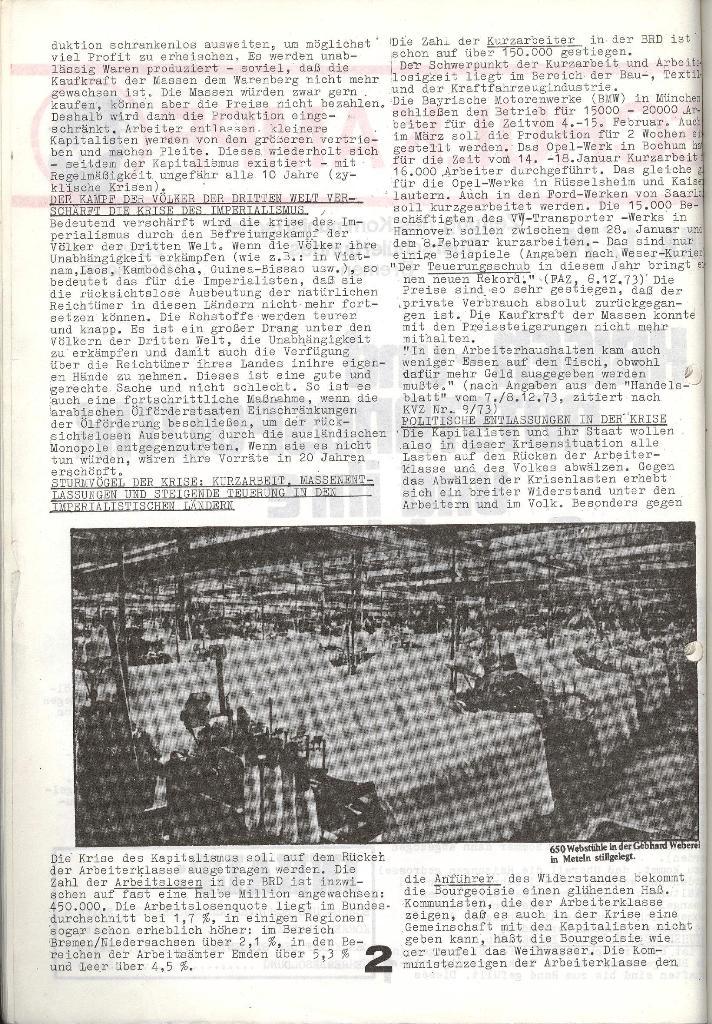 Schulkampf _ Zeitung des KOB, Nr. 1/74, Seite 2