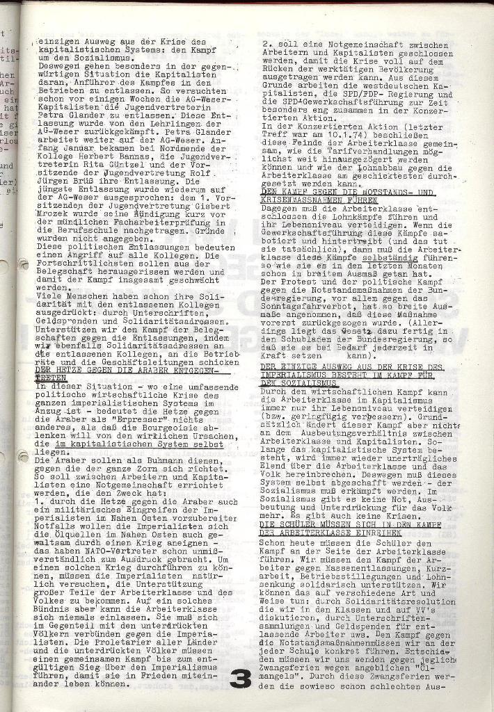 Schulkampf _ Zeitung des KOB, Nr. 1/74, Seite 3