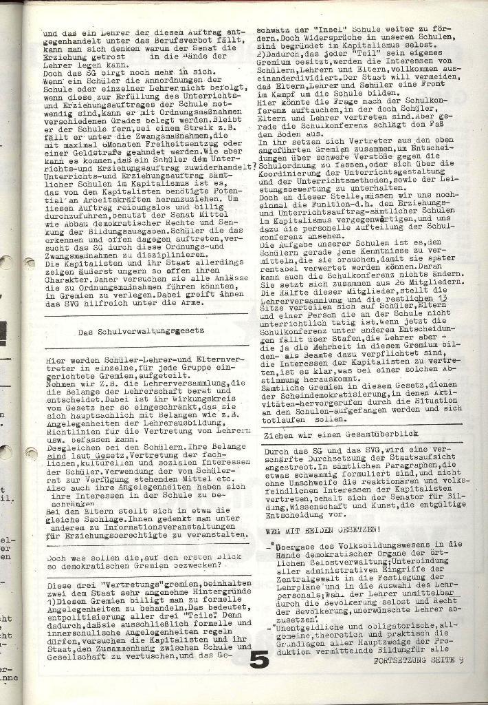 Schulkampf _ Zeitung des KOB, Nr. 1/74, Seite 5