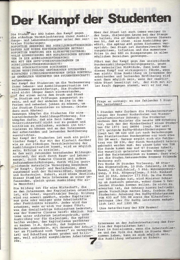 Schulkampf _ Zeitung des KOB, Nr. 1/74, Seite 7