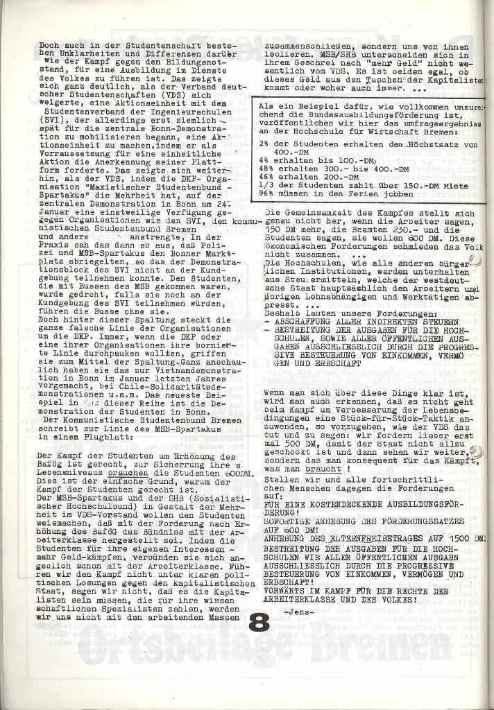 Schulkampf _ Zeitung des KOB, Nr. 1/74, Seite 8