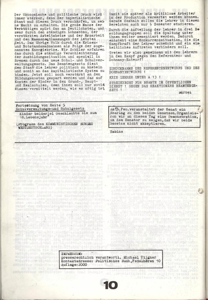 Schulkampf _ Zeitung des KOB, Nr. 1/74, Seite 10