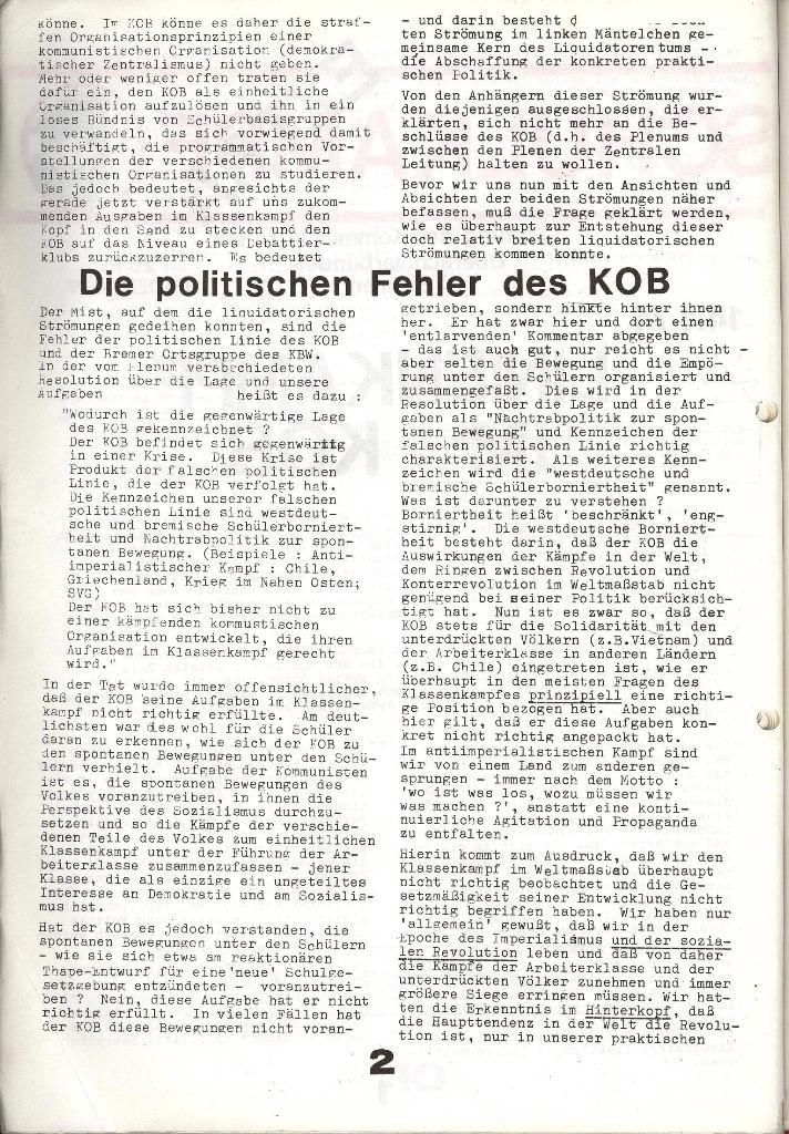 Schulkampf _ Zeitung des KOB, Extra, 14.1.74 , Seite 2