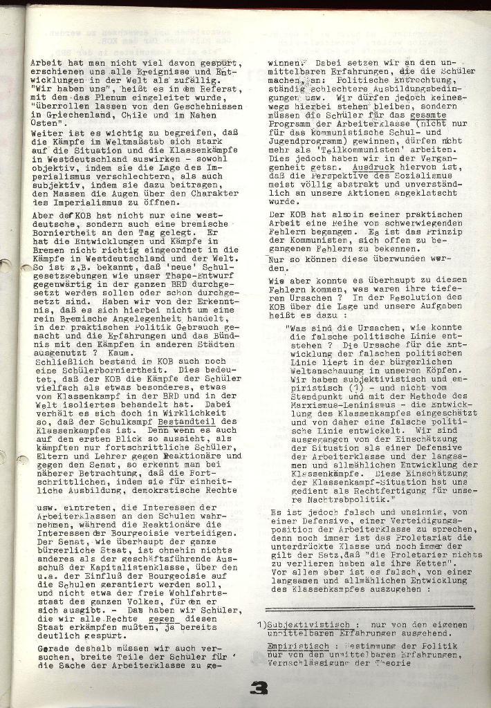 Schulkampf _ Zeitung des KOB, Extra, 14.1.74 , Seite 3