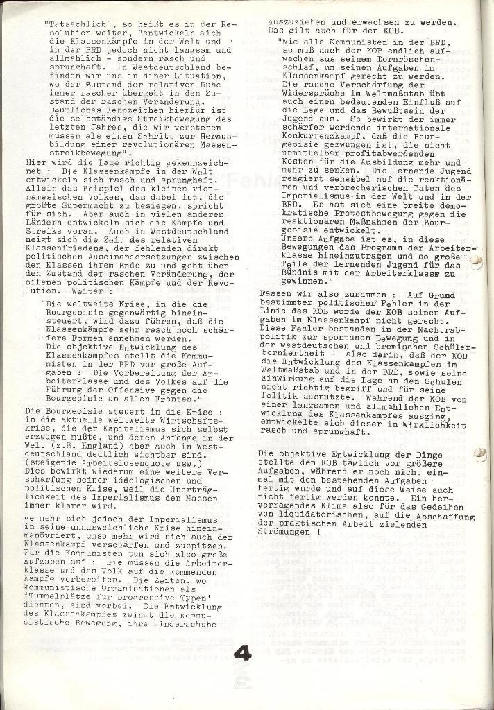 Schulkampf _ Zeitung des KOB, Extra, 14.1.74 , Seite 4