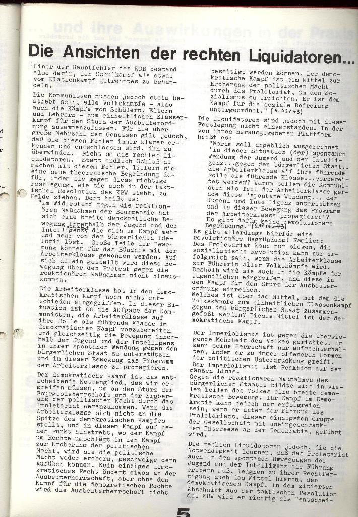 Schulkampf _ Zeitung des KOB, Extra, 14.1.74 , Seite 5