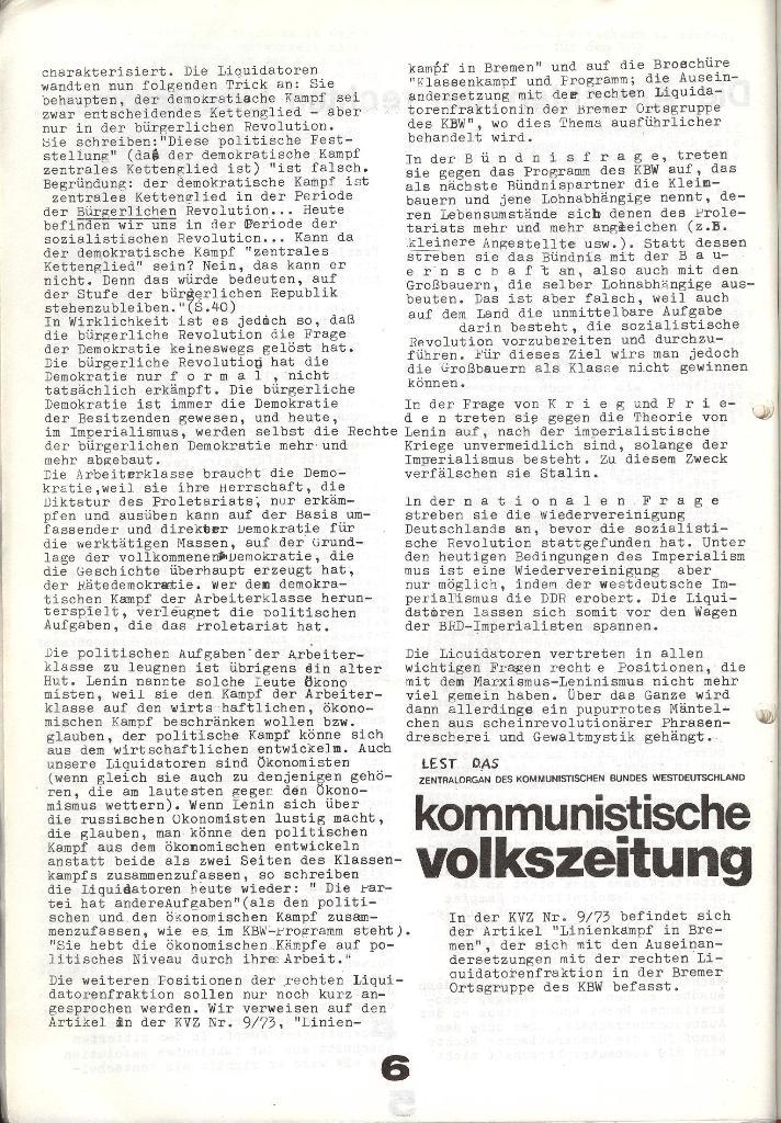Schulkampf _ Zeitung des KOB, Extra, 14.1.74 , Seite 6