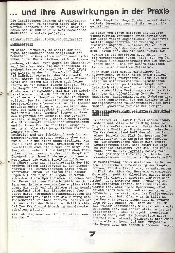 Schulkampf _ Zeitung des KOB, Extra, 14.1.74 , Seite 7