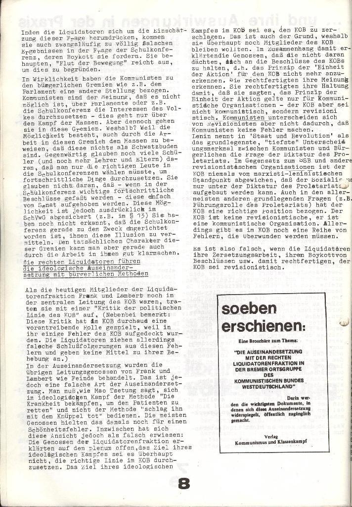 Schulkampf _ Zeitung des KOB, Extra, 14.1.74 , Seite 8