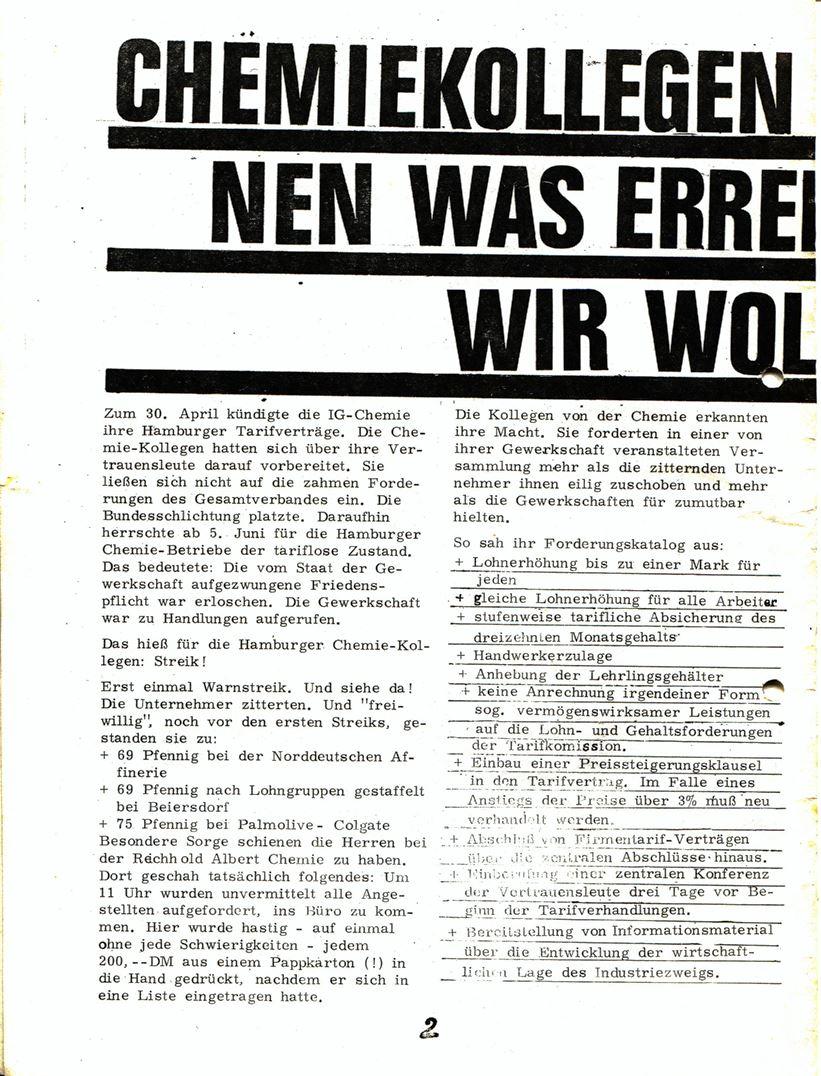 Blohm und Voss Arbeiterzeitung, Nr. 3, Jg. 1, Juli/August 1970, Seite 2