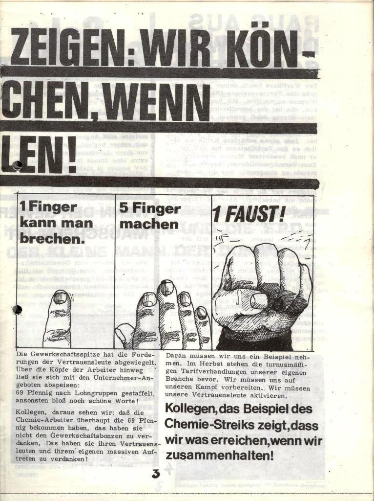 Blohm und Voss Arbeiterzeitung, Nr. 3, Jg. 1, Juli/August 1970, Seite 3